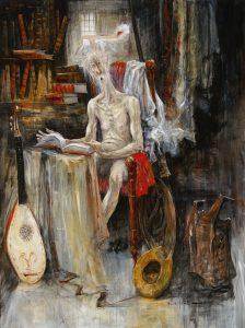 Artist Marcel Pajot Don Quichotte, La lecture interrompue | Galerie Mickaël Marciano Art contemporain Paris