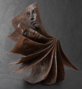 La Chute |Paola Grizi Artist | sculpture bronze livre | Galerie Mickaël Marciano Place des Vosges Paris