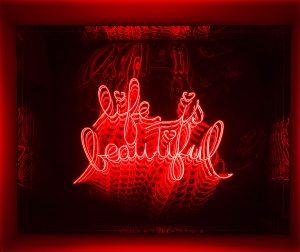 Falcone Artiste | Life is beautiful | Mirror geometric optic | Galerie Mickaël Marciano Place des Vosges Paris
