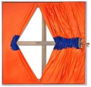 Galerie Marciano Jean-Paul Donadini Artiste Galerie Marciano | brosse tableau orange hommage fontana