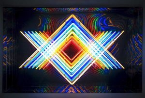 Falcone Artiste | Infinity rainbows | Mirror geometric optic | Galerie Mickaël Marciano Place des Vosges Paris