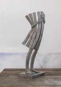 Le vent se lève | Isabel Miramontes Artist | sculpture bronze | Galerie Mickaël Marciano Place des Vosges Paris.