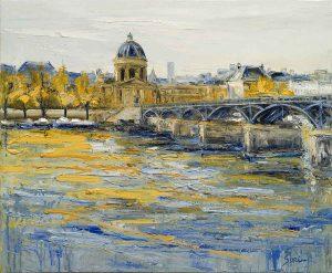 Jean-Paul Surin Le Pont des Arts | Paysage Paris | Galerie Mickaël Marciano Art contemporain Paris