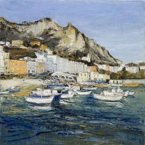 Jean-Paul Surin Le Port de Capri | Landscapes Mer Italie | Mickaël Marciano Art Gallery Place des Vosges