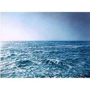 Artiste BERNAIR waves Sea Painting Hyperrealism blue | Galerie Mickaël Marciano Art Place des Vosges