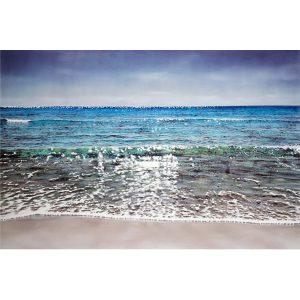 Artist BERNAIR waves Sea Painting Hyperrealism blue | Galerie Mickaël Marciano Art Place des Vosges