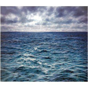 Artist BERNAIR waves Sea Painting Hyperrealism blue | Galerie Mickaël Marciano Art contemporain Paris