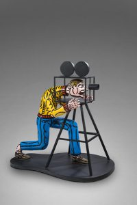 Robert Combas artiste | Réalisateur camera homme figuration libre | Galerie Mickaël Marciano Place des Vosges Paris.