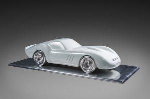 Antoine Dufilho Artist | Ferrari 250 GTO Blanche | polie sculpture voiture classic car | Galerie Mickaël Marciano Place des Vosges
