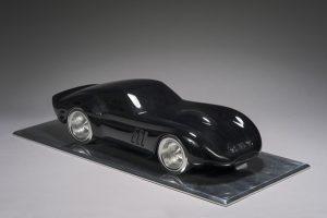 Antoine Dufilho Artiste | Ferrari 250 GTO noir | black sculpture voiture classic car | Galerie Mickaël Marciano Place des Vosges