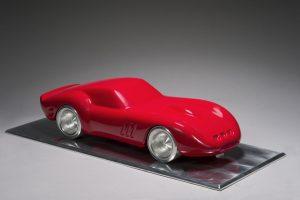 Antoine Dufilho Artiste | Ferrari 250 GTO rouge | sculpture voiture classic car | Galerie Mickaël Marciano Place des Vosges