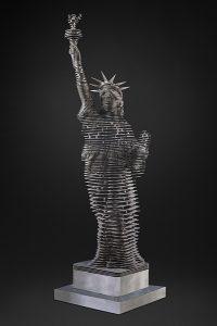 Antoine Dufilho Artist | Lady Liberty | statue liberté sculpture acier architecture | Galerie Mickaël Marciano Place des Vosges