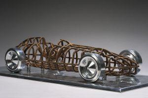 Antoine Dufilho Artist | Mercedes w196 st | polie sculpture voiture classic car | Galerie Mickaël Marciano Place des Vosges