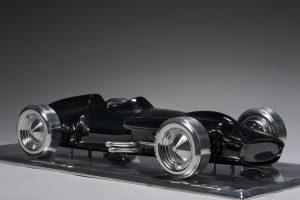 Antoine Dufilho Artist | Mercedes w196 noire | polie sculpture voiture classic car | Galerie Mickaël Marciano Place des Vosges