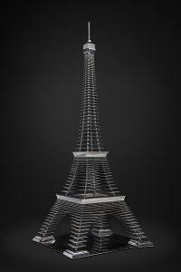 Antoine Dufilho Artist | Tour Eiffel | sculpture architecture tower | Galerie Mickaël Marciano Place des Vosges