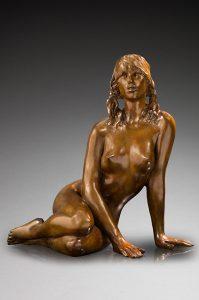 Jacques le Nantec Heidi | woman erotism sculptures | Artist Mickaël Marciano Art Gallery Paris