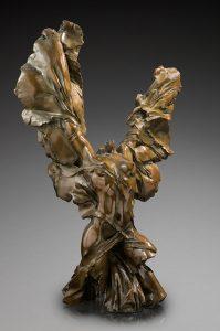 Jacques le Nantec Torse ailé Femme | Nu féminin Bronze fantasy fantastique | Artiste Galerie Mickaël Marciano Art Place des Vosges