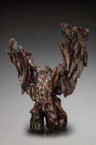 Jacques Le Nantec Torse ailé Homme | Torso sculpture fantasy | Artiste Galerie Mickaël Marciano Art contemporain Paris