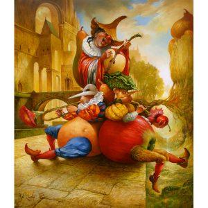 Artiste VAN KHACHE | Api Song | grotesque personnages Légumes Fruits Onirique Fantastique Musique | Galerie Mickaël Marciano Art contemporain Paris