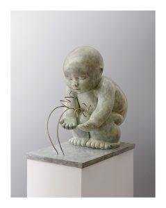 Artiste MARIELA Garibay Dialogue | Bronze Sculpture bébé Tendre | Mickaël Marciano Art Gallery Paris