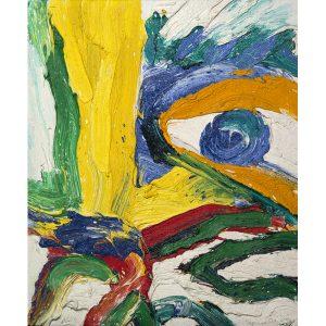 Artiste Bengt Lindström   Masque d'Or   peinture COBRA peintre Suédois   Art Contemporain Galerie Mickaël Marciano