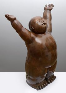 Artiste MARIELA Garibay La vie | Bronze Sculpture bébé Tendre | Galerie Mickaël Marciano Art Place des Vosges