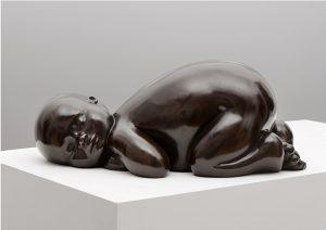 Artist MARIELA Garibay Sommeil | Bronze Sculpture bébé Tendre | Mickaël Marciano Art Gallery Paris | Galerie Mickaël Marciano Art Place des Vosges