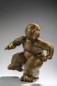 Artiste MARIELA Garibay Dancer Bronze Sculpture bébé Tendre | Mickaël Marciano Art Gallery Place des Vosges