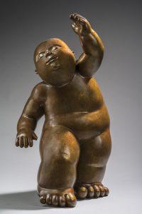 Artiste MARIELA Garibay Dancer | Bronze Sculpture bébé Tendre | Galerie Mickaël Marciano Art Place des Vosges
