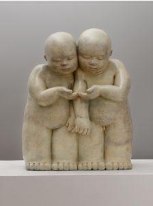 Artiste MARIELA Garibay Le Nid | Bronze Sculpture bébé Tendre | Mickaël Marciano Art Gallery Place des Vosges