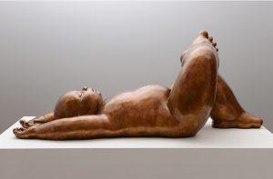 Artist MARIELA Garibay Paysage | Bronze Sculpture bébé Tendre | Mickaël Marciano Art Gallery Place des Vosges