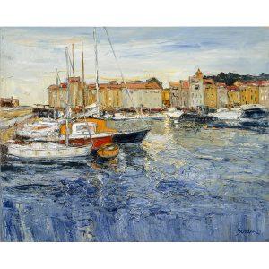Jean-Paul Surin Lumière à St Tropez | Landscape | Galerie Mickaël Marciano Art Place des Vosges