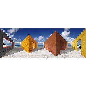 Vinzarth Artist | Anguillaw | anamorphose architecture géométrie | Galerie Mickaël Marciano Place des Vosges Paris.
