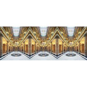 Vinzarth Artist | Atrium | anamorphose architecture géométrie | Galerie Mickaël Marciano Place des Vosges Paris.