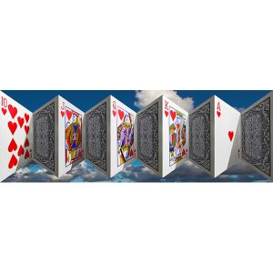 Vinzarth Artist | Cartes | anamorphose game sky | Galerie Mickaël Marciano Place des Vosges Paris.