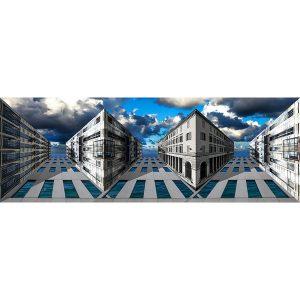 Vinzarth Artist | Ciel & mer | anamorphose architecture Paris | Galerie Mickaël Marciano Place des Vosges Paris.