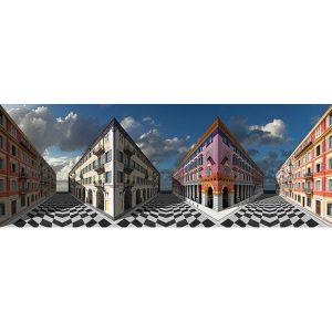 Vinzarth Artist | Niceart | anamorphose architecture Nice | Galerie Mickaël Marciano Place des Vosges Paris.