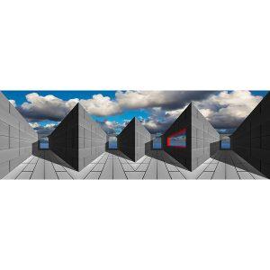Vinzarth Artist | Noir et gris | anamorphose architecture | Galerie Mickaël Marciano Place des Vosges Paris.