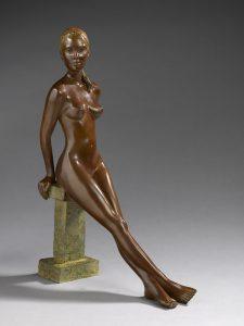 Brigitte Teman Artiste | Alicia | bronze sculpture femme nu | Mickaël Marciano Art Gallery Place des Vosges