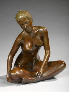 Brigitte Teman Artist | Anais | Bronze sculpture femme female nude woman | Galerie Mickaël Marciano Art contemporain Paris
