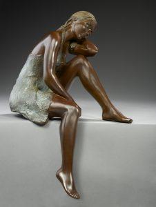 Brigitte Teman Artiste | Liora | bronze sculpture female nude woman | Mickaël Marciano Art Gallery Paris