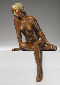 Brigitte Teman Artist | Pénélope | bronze sculpture female nude woman | Galerie Mickaël Marciano Art Place des Vosges