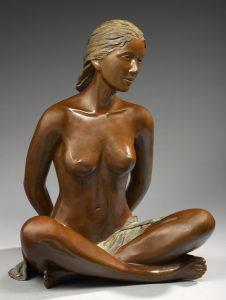 Brigitte Teman Artiste | Oceane |bronze sculpture femme nue portrait | Mickaël Marciano Art Gallery Place des Vosges