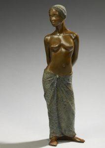 Brigitte Teman Artiste | Mayanna |bronze sculpture femme female nude woman portrait | Mickaël Marciano Art Gallery Paris