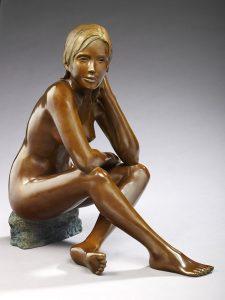 Brigitte Teman Artist | Camille | bronze sculpture femme female nude woman portrait | Galerie Mickaël Marciano Art contemporain Paris