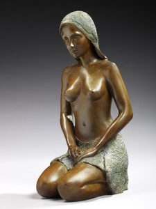 Brigitte Teman Artiste | Candice | bronze sculpture femme female nude woman | Mickaël Marciano Art Gallery Paris