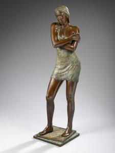 Brigitte Teman Artiste | bronze sculpture female nude woman | Mickaël Marciano Art Gallery Paris