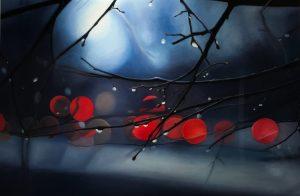 Shay Kun Cherries   Goutte de pluie hyperrealisme   Artist Mickaël Marciano Art Gallery Paris