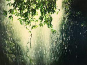 Shay Kun Estranged | Goutte de pluie hyperrealisme | Artiste Galerie Mickaël Marciano Art Place des Vosges