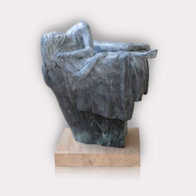Pascal Chôve   Le nid   Artiste sculpteur peintre   nu femme   Galerie d'art Mickael Marciano Paris place des Vosges